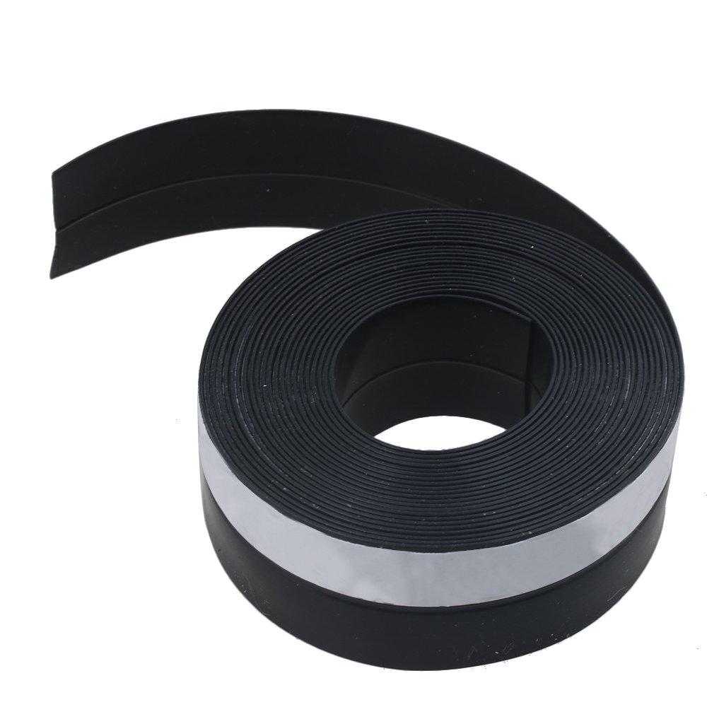RDEXP Tira de sellado de goma para puertas correderas de ventanas 5 metros de longitud color negro