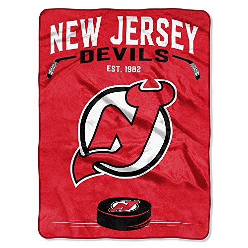 The Northwest Company Officially Licensed NHL New Jersey Devils Inspired Plush Raschel Throw Blanket, 60