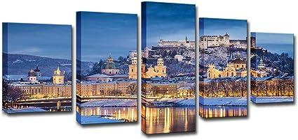 zysymx HD 5 Tablero Arte de la Pared Invierno Austria Salzburgo ...