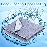 Marchpower Cooling Blanket, Latest Cool-to-Touch Technology, Lightweight Cool Blanket for Sleeping Night Sweats, Breathable Summer Blanket for Bed, Q-MAX0.4 (Blue, Twin, 79 x 59 inches)