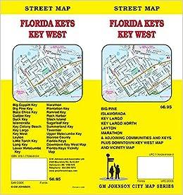Keys Florida Map.Florida Keys Key West Upper Lower Keys Florida Street Map Gm