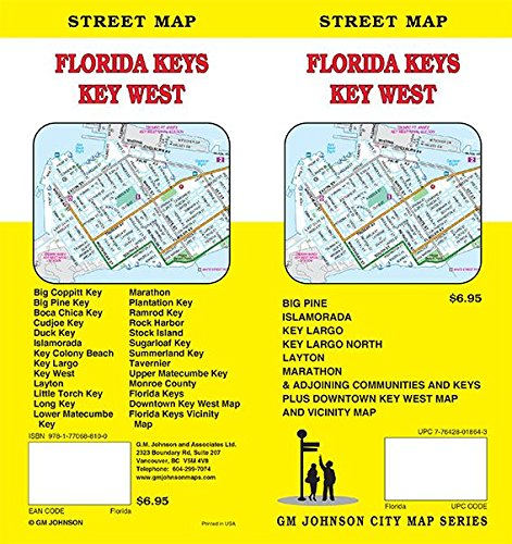 Florida Keys / Key West / Upper & Lower Keys, Florida Street Map