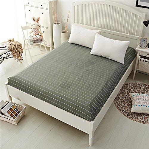 Linen Paper Bonk Shroud - Polyester Fashionable Fitted Elastic Bedsheet Mattress Cover Bedding Linen Bed Sheet - Eff Canvass Bang Plane Jazz Flat Solid Lie Seam Sail Bottom - 1PCs