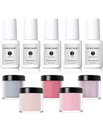 6caa5b01c05c NICOLE DIARY Dip Powder Nail Starter Kit Acrylic Dipping System Clear  Liquid Acrylic Pigment Powder for
