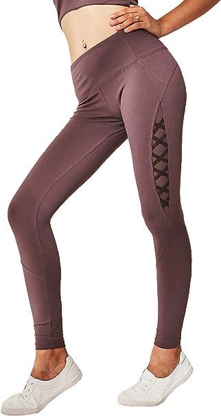 D C.Supernice - Mallas de Yoga para Mujer, con Cinta de Malla y ...