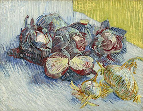 Van Gogh レッドキャベツとタマネギ1887 Red Cabbages And Onions 1887 キャンバス複製画 40X30cm 静物 絵画 完全に立体に複製 3D 印刷 美術品 部屋 壁掛け 木枠なしの商品画像