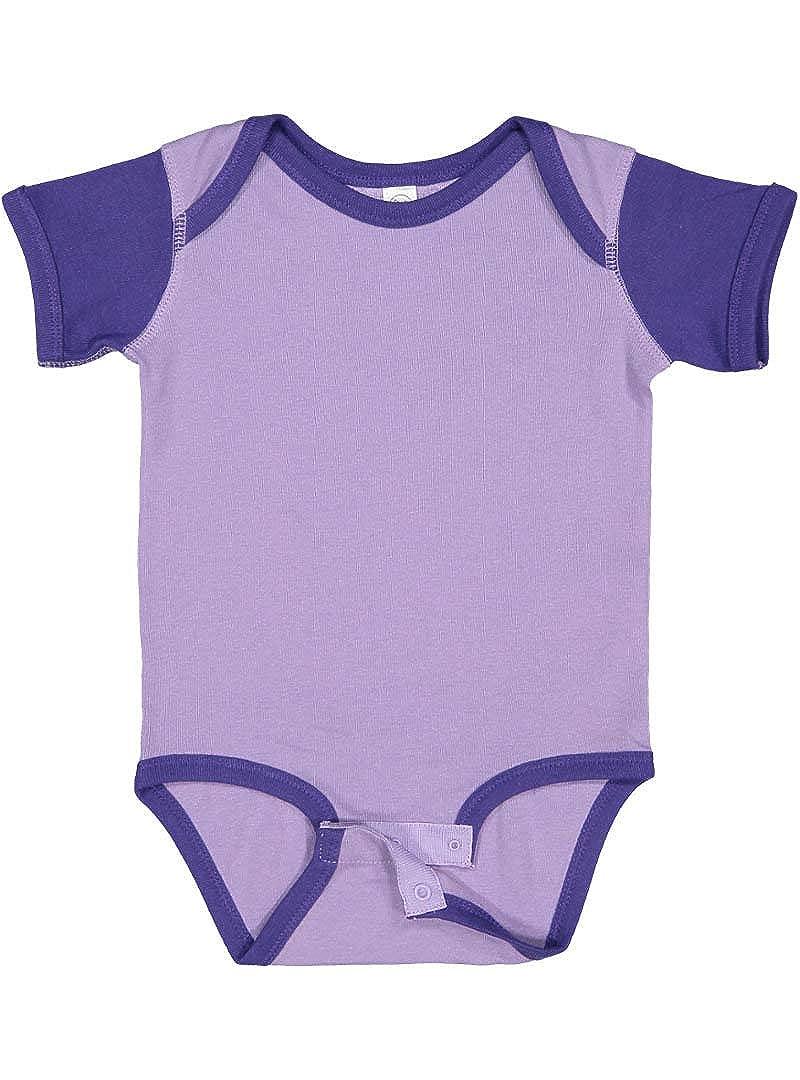 0b23145e99fd Amazon.com  Rabbit Skins Infant 100% Cotton Baby Rib Lap Shoulder Short  Sleeve Bodysuit  Clothing