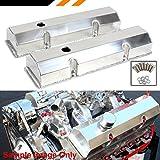 SBC Chevy Fabricated Aluminum Tall Valve Covers W/ Short Bolt- 283 327 350 400