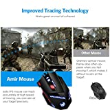 AMIR-Gaming-Mouse-USB-Wired-Optical-Gaming-Mice-with-9200-DPI-High-Precision-6-Adjustable-DPI-1000-9200-8-Adjustable-Weights-6-Changing-LED-8-Buttons-for-Laptop-PC-MacBook-Computer