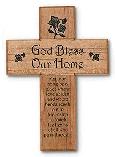 Mahogany God Bless Our Home May Our Home Be a Place… 8 Wall Cross