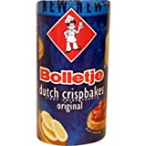 12 Count Bolletje Beschuit Original/Regular (Dutch Crispbakes/Dutch Rusk/Light Crisp Toast)	12 Roll ea 125gram 4.4oz