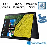 Acer Aspire R 14 2-in-1 Convertible 14 Inch FHD IPS Touchscreen Laptop, Intel Core i5 Processor up to 2.8 GHz, 8GB RAM, 256GB SSD, Backlit Keyboard, Bluetooth, WiFi, Webcam, Windows 10