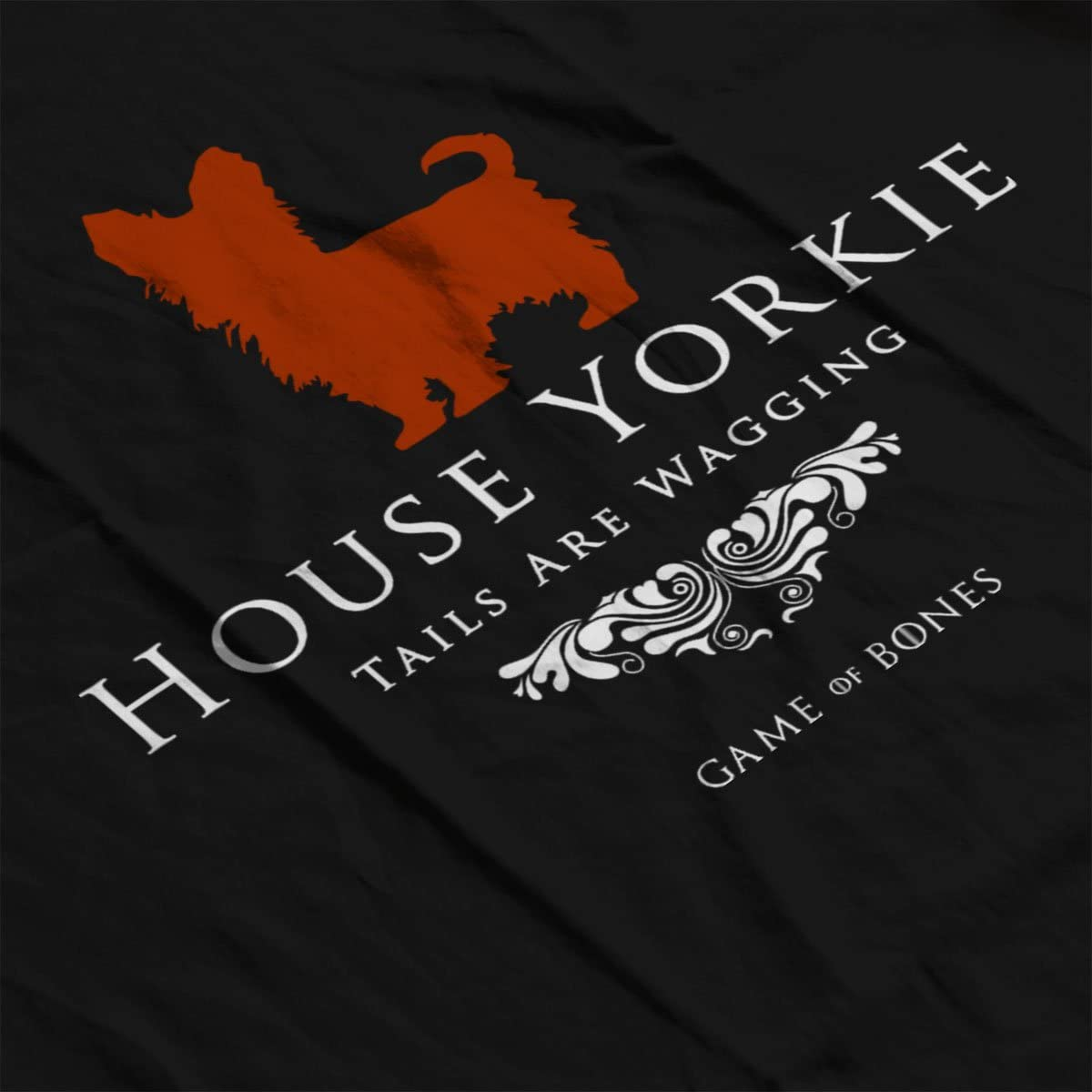 House Yorkie Tails Are Wagging Game Of Bones Kids Sweatshirt