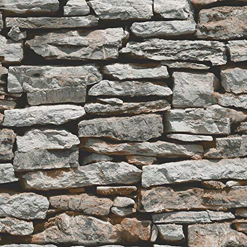 Arthouse, Moroccan Stacked Stone Wallpaper (Stacked Stone Walls)