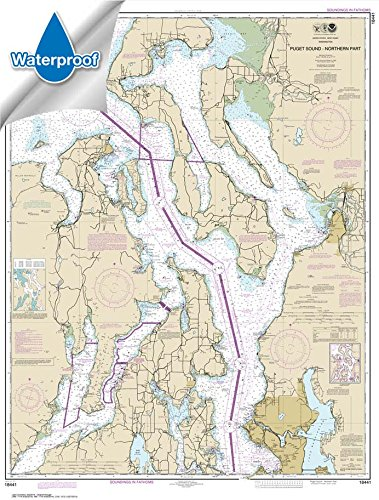 NOAA Chart 18441: Puget Sound-northern part, 34.2 X 45.1, WATERPROOF