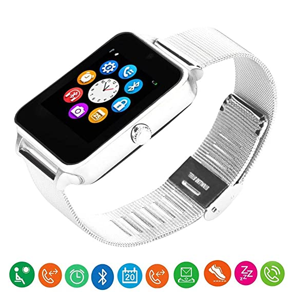 Amazon.com: MY BIBY Z60 Bluetooth Smart Watch Men Women ...