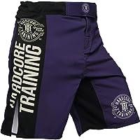Hardcore Training Fight Shorts Men's Recruit Black - Boxing Shorts - Cage Fight BJJ No-Gi Fitness Gym Pantalones Cortos