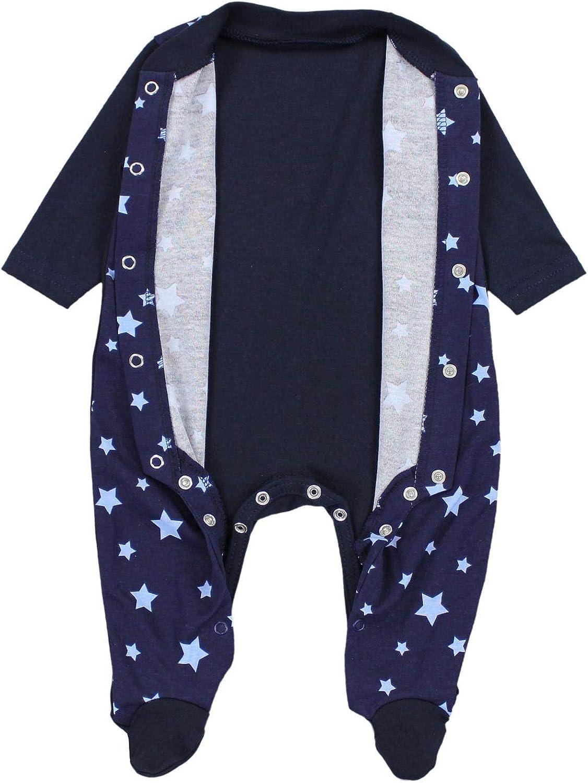 TupTam Baby Boys Sleepsuit with Feet Pack of 3