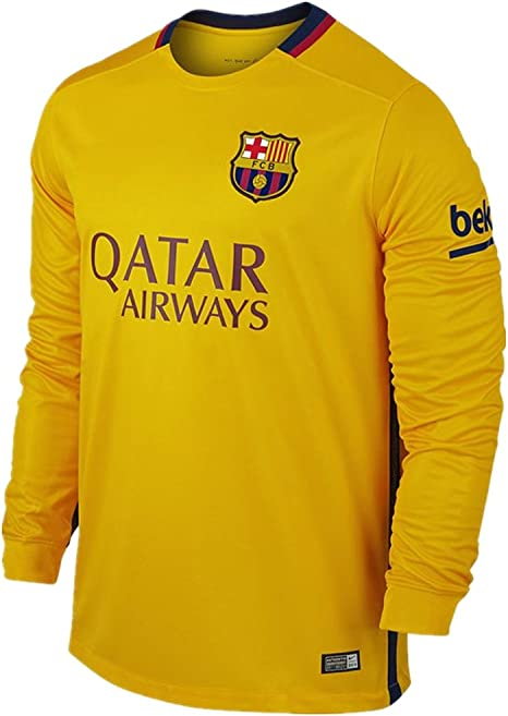 Nike 2015-16 lejos del FC Barcelona Messi fútbol #10 camisa ...