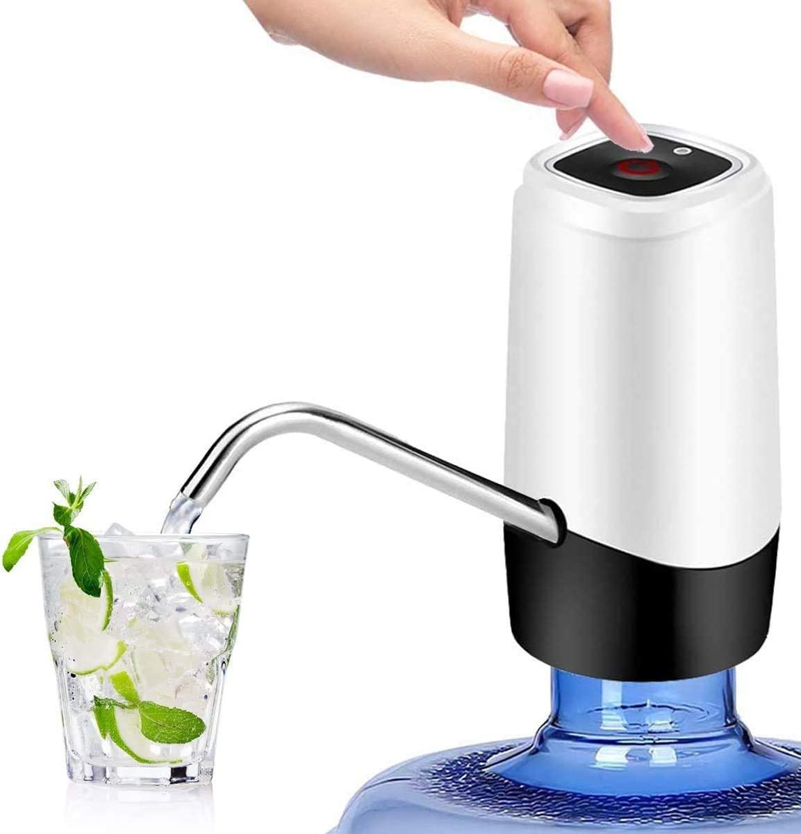 USB Rechargeable Electric Water Pump Water Dispenser Drinking Water Bottles #3YE