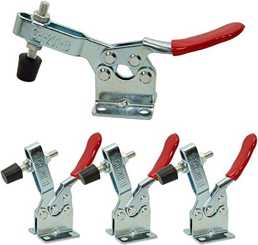 HONJIE Toggle Clamps Woodworking Metal Wood Cam Toggle Clamp 201 Quick Release Tool 27kg 60lbs