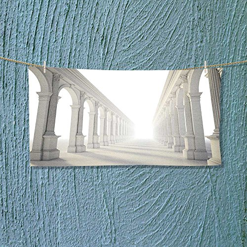 Photo Or Text Image DIY Personalized Custom Towels/Hand Towel Acrylic for Beach, Pool or Bath! Unisex towels!(Classica colonnade with arcades and Corinthian columns)