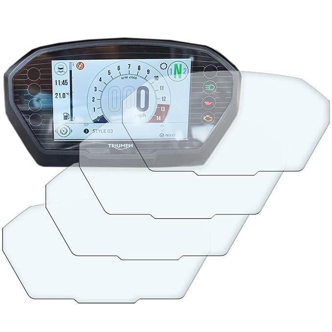 3 x Ducati Multistrada 950//1200//1260 2015 Displayschutzfolie Tachoschutzfolie Screen Protector Anti-Glare