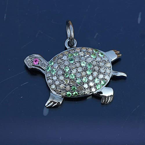 1 Pc. 16 mm Solid Sterling Silver 925 Turtle Charm Pendant