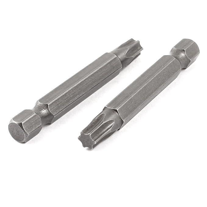 2 piezas T30 cierre magn/ético 5,3 mm punta 6,3 mm llaves de vaso puntas destornilladoras Torx