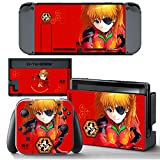 Ci-Yu-Online VINYL SKIN [NS] Neon Genesis Evangelion EVA Asuka Langley Soryu STICKER DECAL COVER for Nintendo Switch Console and Joy-Con Controllers
