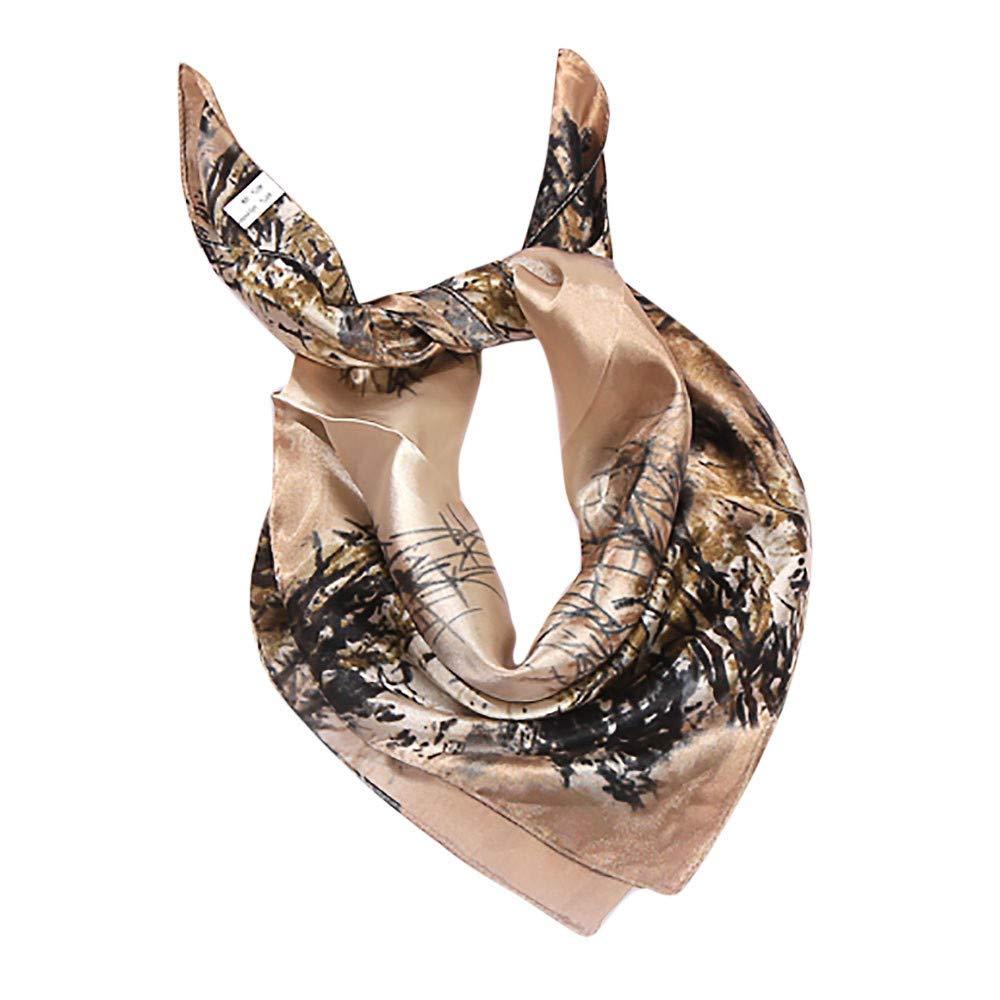 Women/'s Square Silk Satin Large Scarf Wrap Leopard Warm Head Shawls Scarves UK