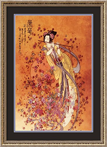 Framed Art Print, 'Goddess of Prosperity' by Chinese: Outer Size 22 x 30