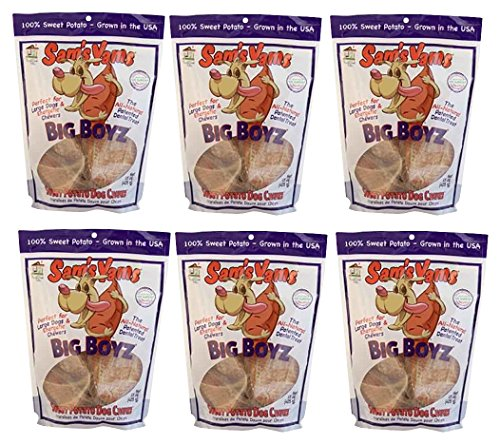 Sweet Potato Dog Chewz - 6 Pack (15 Ounces Each)- Value Pack Big Boyz
