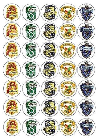 30 X Harry Potter Häuser Schwarz Gryffindor Essbares Reispapier