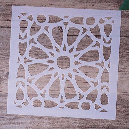 15 cm DIY Ofcio Camadas Stencils Para Paredes Pintura Scrapbooking Carimbar lbum de Selos Cartes de Gravao De Papel Decorativo