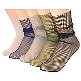 Search : Ziye Shop 5 Pairs Punk Series Cool Female Hollow Thin Fishnet Socks