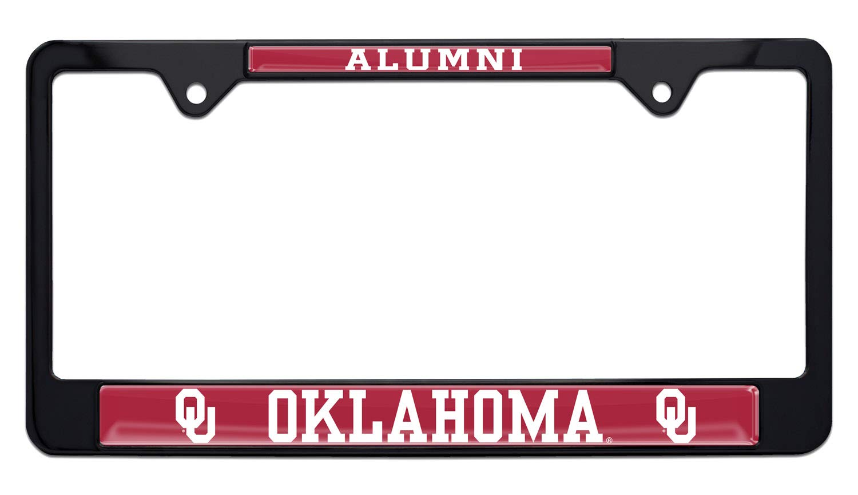 Elektroplate University of Oklahoma Alumni Black License Plate Frame