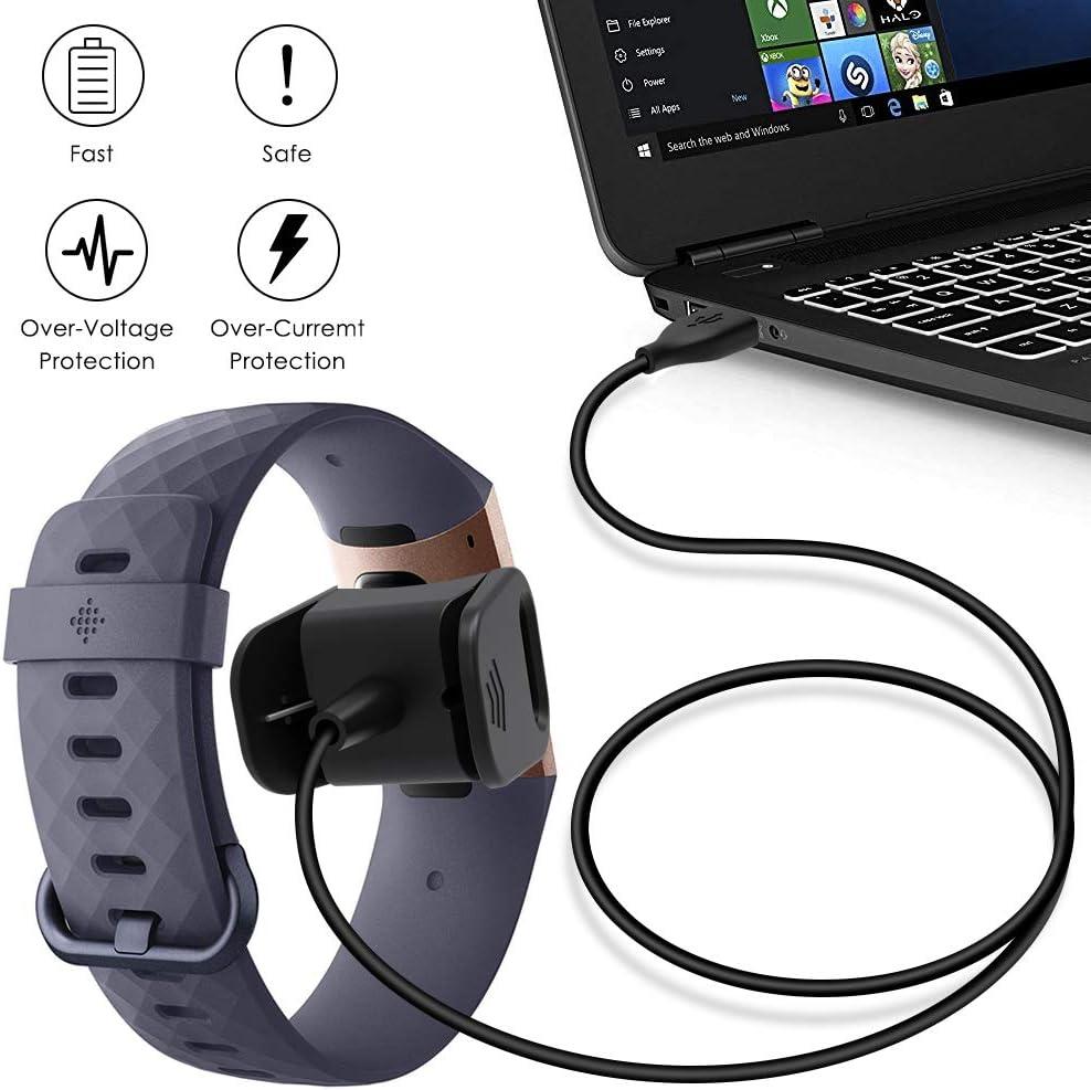 USB Ladekabel für Fitbit Charge 3 Fitness Sport Tracker Smartwatch Ladegerät BK