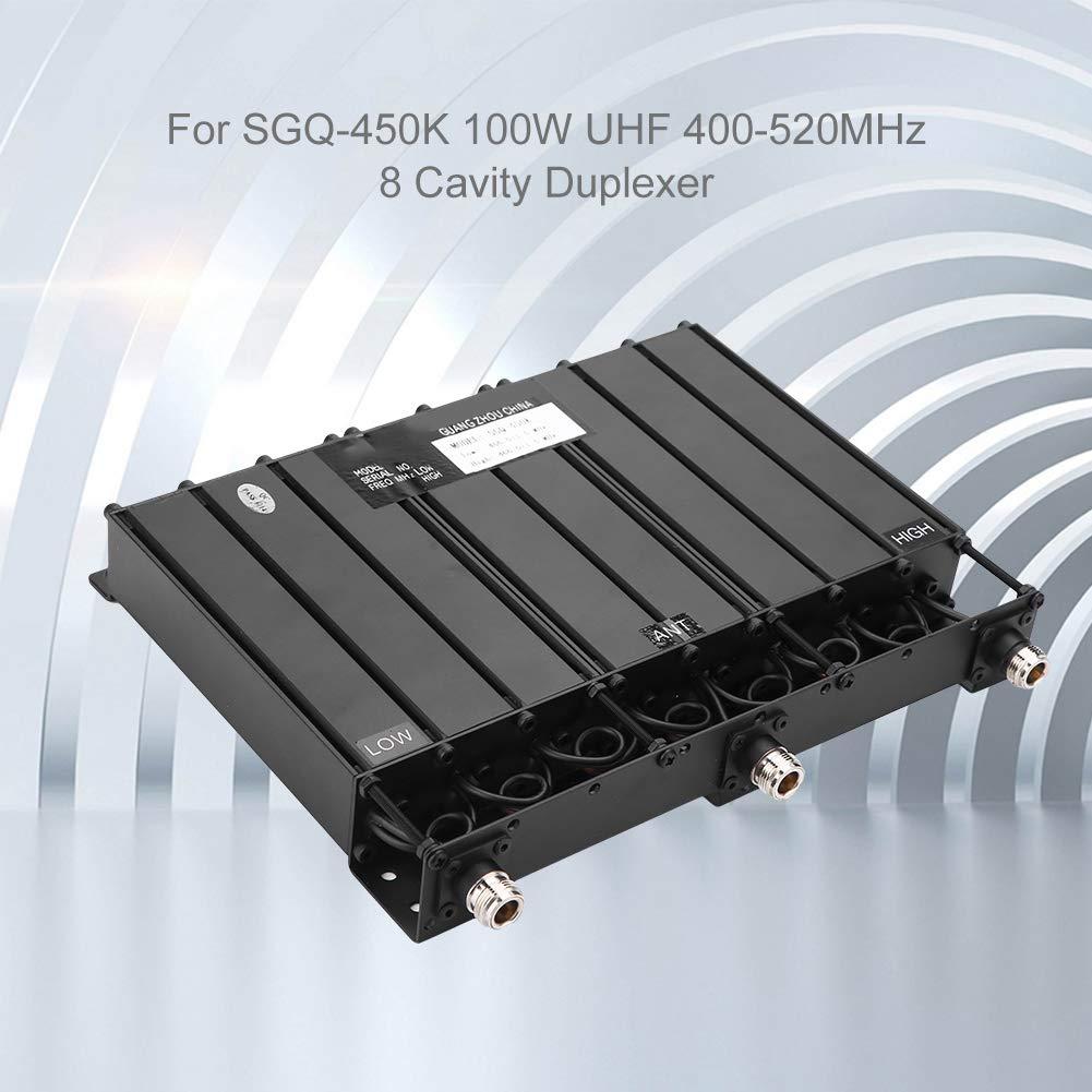 Nero VBESTLIFE Duplexer a 8 cavit/à per Connettore VHF Duplex SGQ-150K 100W 136-174MHz 8 cavit/à Duplexer Connettore N//SMA