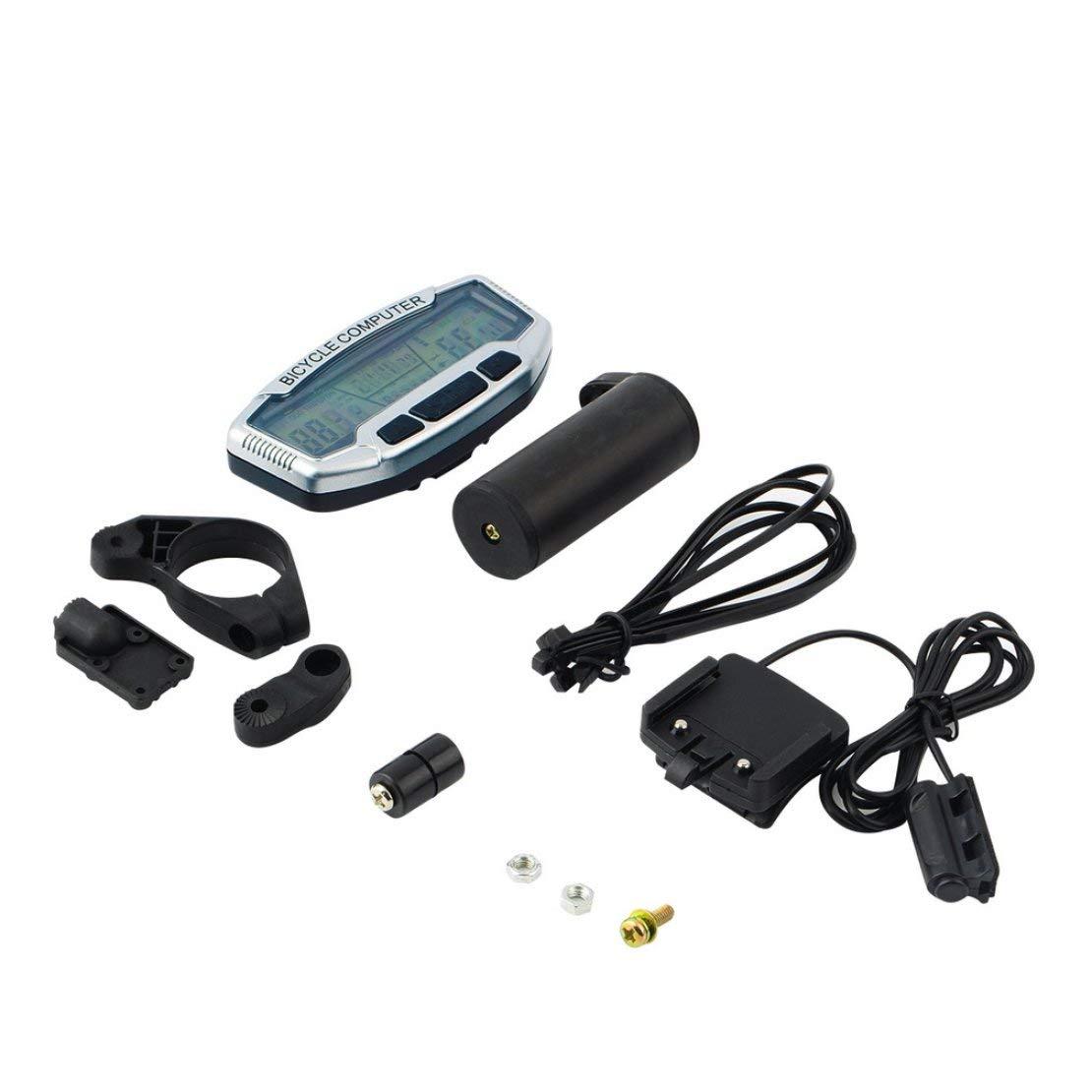 Sanzhileg ABS con Cable Pantalla LCD Bicicleta de la Bici Ciclismo Cuentakilómetros velocímetro cronómetro velocímetro SD-558A
