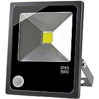 GLW LED Projecteur de Détecteur Mouvement 50W Lumière D'inondation Super Brillant avec PIR Détecteur Extérieur Imperméable IP65 6000k 4500lm Fil 3.28ft/1m 240V pour Garten Couloir Entrepôt