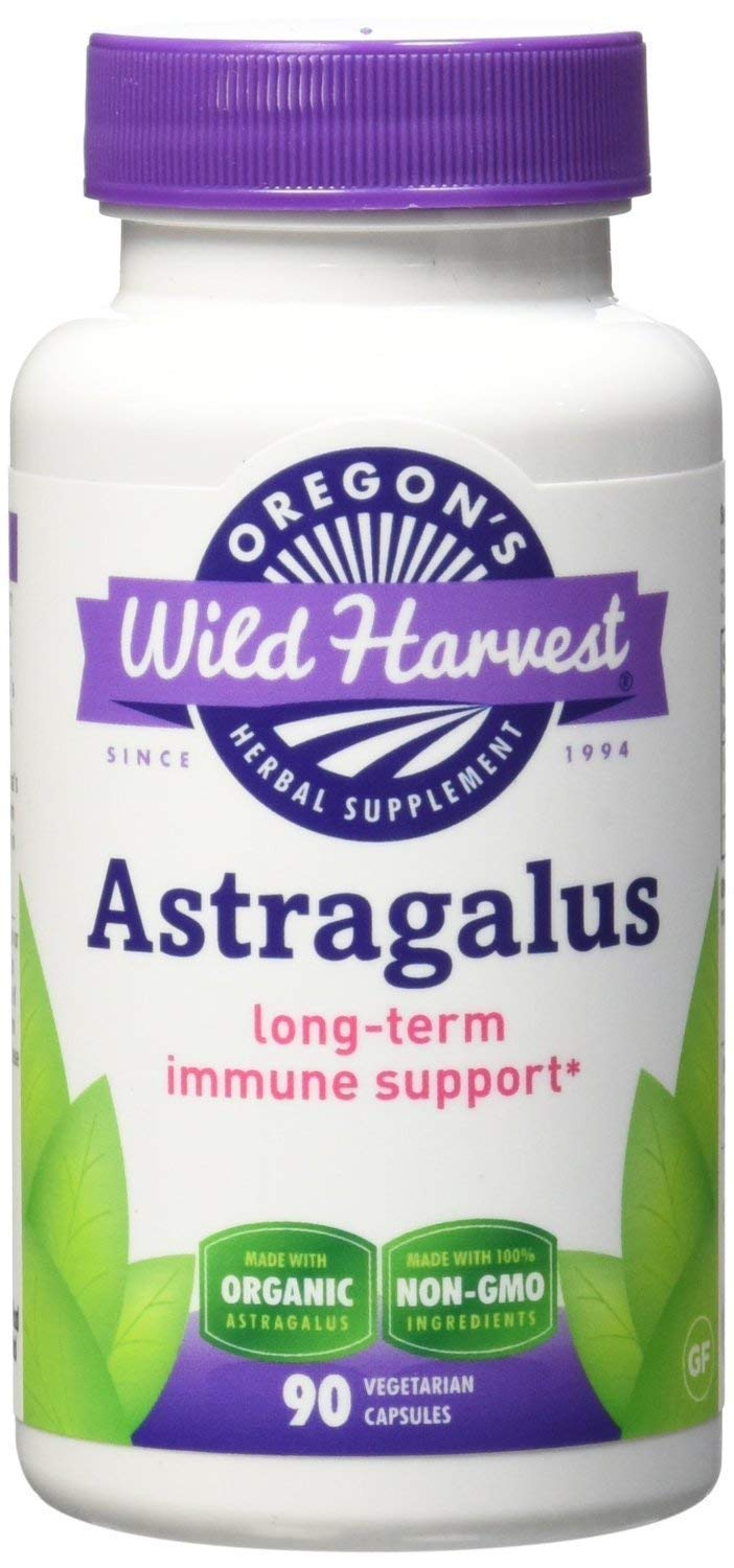 Oregon's Wild Harvest Organic Astragalus Supplement, 90 Count (Pack of 2)