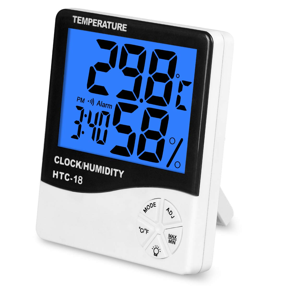Calmare Digital Hygrometer Thermometer, Indoor Digital Thermometer Hygrometer Monitor with Indoor Thermometer, Digital Hygrometer and Humidity Gauge Indicator MZK