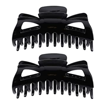 Large Hair Clip Claw Black Multi