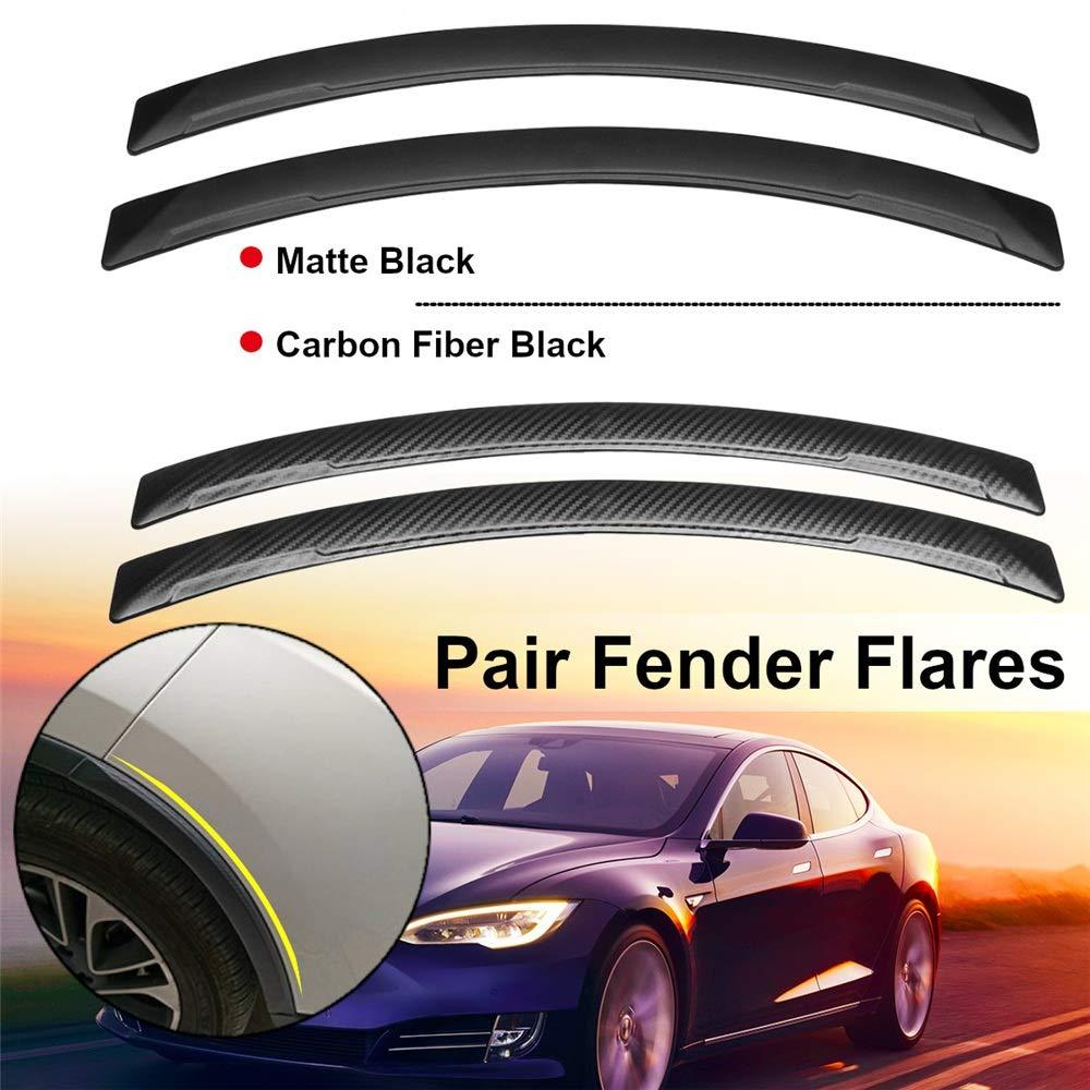 Colore : Carbon Fiber, Dimensione : Taglia Unica Peng sounded Anteriore e Posteriore Fender Flares 2 Pezzi Universale passaruota Auto Sopracciglia Fender Flares