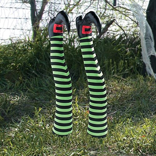 [Large Witch Legs Haunted House Prop Yard Stake Halloween Decor] (Scary Ragdoll Costumes)