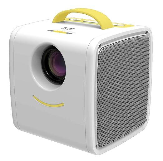 Mini proyector, proyector de video LED portátil compatible con ...