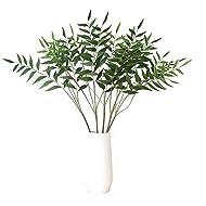 "Artificial Plants 32"" Artificial Eucalytus Green Branches Fake Shrubs Plastic Greenery Plants House Office Decor(2pcs)- Warmter"