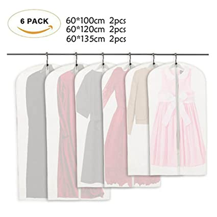 61ec7d8b601a Amazon.com: Caiyuangg Garment Bag, PEVA Environmentally Waterproof ...