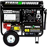 Generators DuroStar 10000 Watt Hybrid Dual Fuel Portable Gas Propane Generator - RV Standby